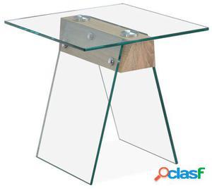 Wellindal Mesita De Cafó Odesa 50x50 Cristal Transparente
