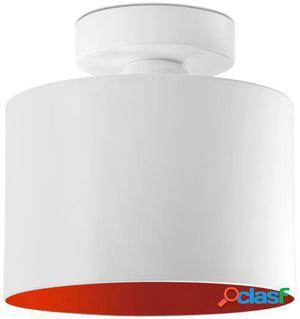Wellindal Plafón janet rojo y blanco e27 maximo 20w