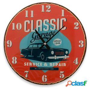 Wellindal Reloj De Pared Classic Garage Vintage Coconut