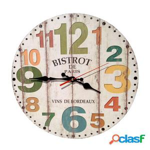 Wellindal Reloj Decorativo De Pared Bistrot