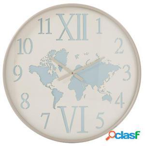 Wellindal Reloj Madera Y Metal