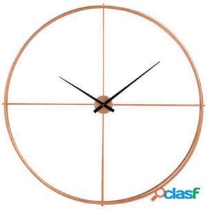 Wellindal Reloj Redondo Metal Cobre