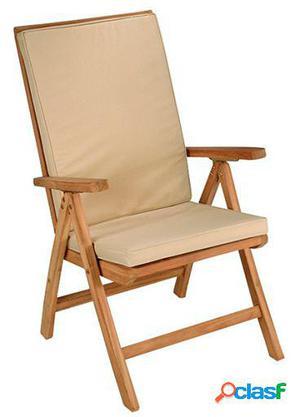 Wellindal Silla Teca natural reclinable