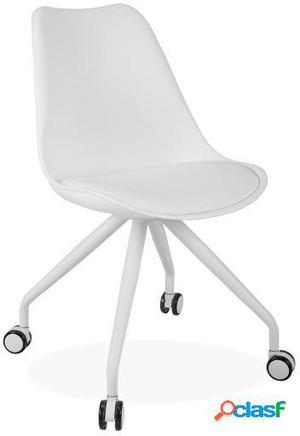 Wellindal Silla de oficina cross four legs-blanco