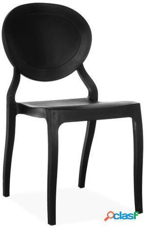 Wellindal Silla roco-negro inspiración ghost de philippe