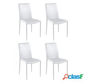 Wellindal Sillas Moli Pack De 4 Blanco