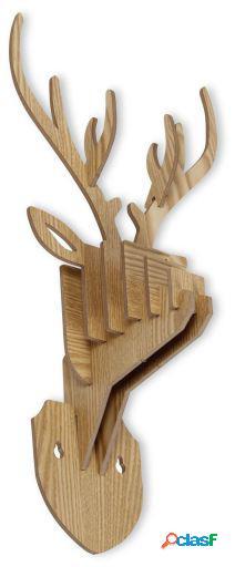 Wellindal Trofeo De Pared Ciervo -Puzzle 3D Haya