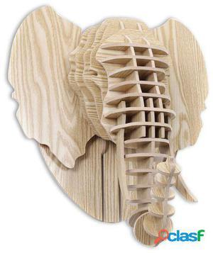 Wellindal Trofeo De Pared Elephant-Puzzle 3D Madera