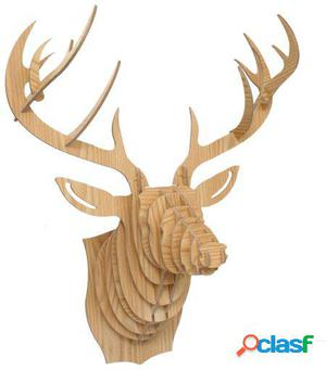 Wellindal Trofeo De Pared Reindeer -Puzzle 3D Madera