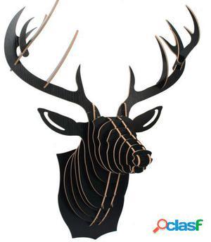 Wellindal Trofeo De Pared Reindeer -Puzzle 3D Negro