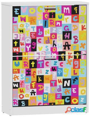 Wellindal Zapatero de 2 trampones due alfabeto infantil