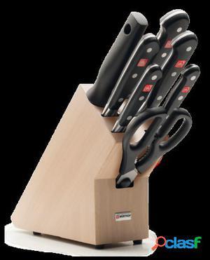 Wüsthof Bloque de Cuchillos con 6 Piezas Classic + Tabla de