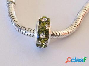 Abalorio de Plata Cristal 3 Verde