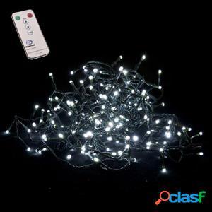 180 luces LED 8 funciones blanco cálido