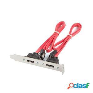Adaptador 2x esata para conectar a placa base lanberg