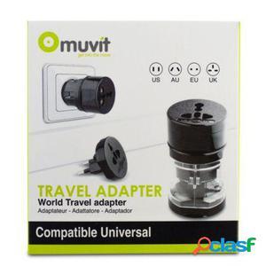Adaptador de viaje universal muvit muadp0009 - 4 clavijas