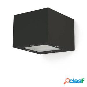 Aplique pared cuadrado exterior marrón cobrizo Isora 2 x