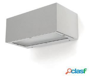 Aplique pared rectangular exterior blanco Isora 2 x LED 8,7W