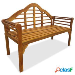 Banco de jardín de 2 plazas de madera maciza de acacia