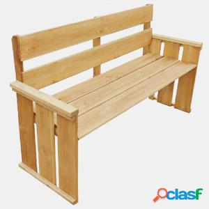 Banco de jardín de madera de pino impregnada 160x55x89 cm