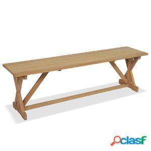 Banco de jardín de madera de teca maciza 150x35x45 cm