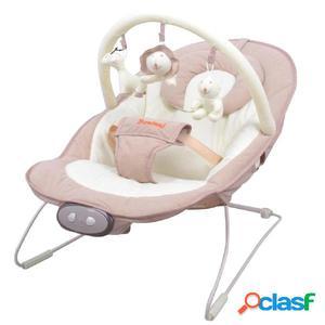 Baninni Hamaca columpio de bebé Nina Senso beige y blanca