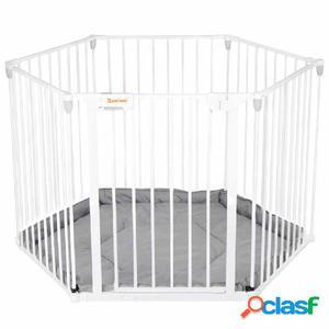 Baninni Puerta de seguridad & Parque infantil Zita blanco