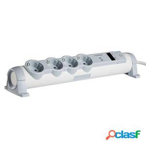 Base multiple legrand 694664 - 4x2p+t - 2xrj45 - proteccion