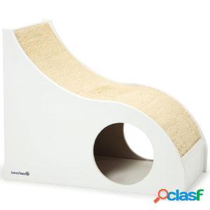 Beeztees Poste rascador para gatos Fendy blanco 55x30x45 cm