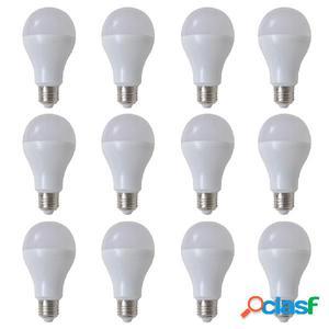 Bombilla LED, E27, 12 unidades, blanco cálido, 9 W