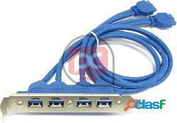 Cable adaptador 2 x usb 3.0 hembra a hs20 hembra