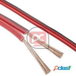 Cable de audio para altavoces rojo y negro de 2x0,75 mm²
