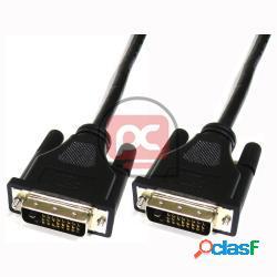 Cable dvi-d dual link macho macho 50 cm