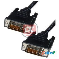 Cable dvi-d macho a dvi-d macho de 1,8 m dual link
