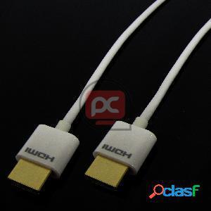 Cable hdmi 1.4 blanco 2m