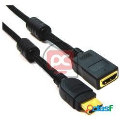 Cable hdmi 1.4 tipo a de macho a hembra de 1m