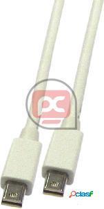 Cable mini displayport 1080p fullhd para audio y vídeo