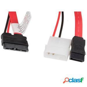 Cable sata iii (6gb/s) / micro sata + alimentacion molex