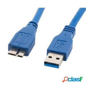 Cable usb 3.0 macho a usb micro b macho lanberg