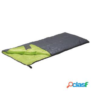 Camp Gear Saco de dormir Festival 190x75 cm gris y lima