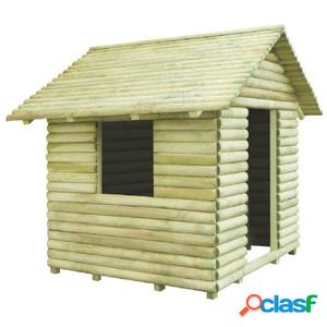 Casa de juegos de madera de pino impregnada 167x150x151 cm