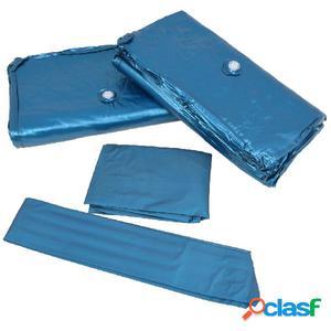 Colchón de cama de agua dual con forro y divisor 160x200 cm