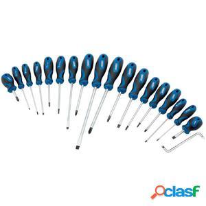 Draper Tools Juego de destornilladores 19 unidades azul