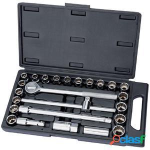Draper Tools Set de llaves de vaso combinadas 25uds Redline