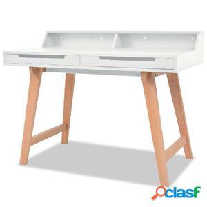 Escritorio de madera de haya MDF 110x60x85 cm blanco