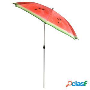 Esschert Design Sombrilla Watermelon 184 cm rojo y verde