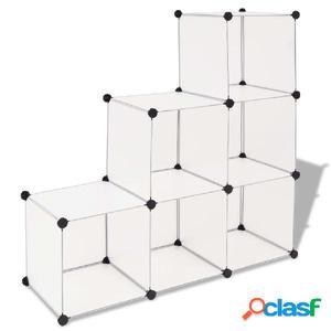 Estantería de cubos con 6 compartimentos blanco