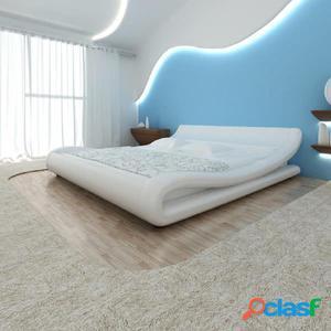 Estructura de cama 180x200 cm cuero artificial curvada