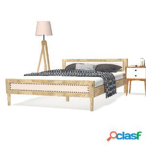 Estructura de cama de madera de mango maciza 140x200 cm