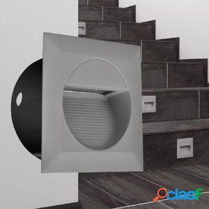 Foco LED cuadrado empotrable para escaleras 126 x 126 x 65,5